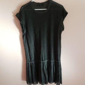 AllSaints black tunic, ruffle dress